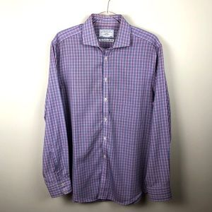 Charles Tyrwhitt Plaid Button Up Shirt No Iron 35
